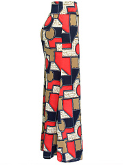 Color Block Printed Mermaid Maxi Skirt