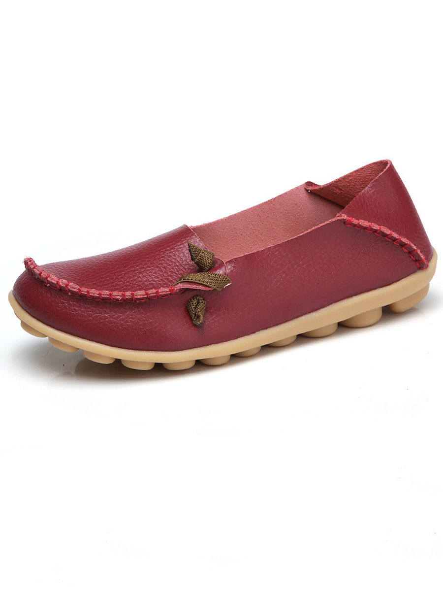 Comfy Soft Sole Loafers With Contrast Lace-Up
