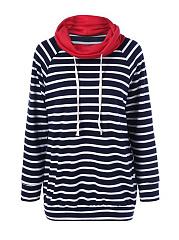 Cowl-Neck-Striped-Long-Sleeve-Sweatshirts
