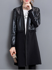 Trench Polyester Patchwork Plain