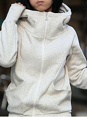 Hooded  Zips  Plain Hoodies