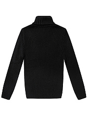 Men'S Turtleneck Plain Striped Sweater