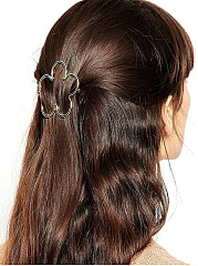 Hollow Out Floral Shape Hair Clip