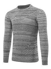 Crew-Neck-Embossed-Basic-Mene28099S-Sweater