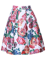 Inverted-Pleat-Midi-Skirt-In-Floral-Printed