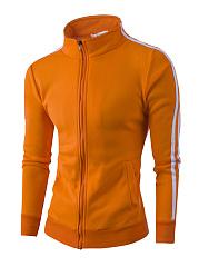 Band-Collar-Pocket-Striped-Men-Coat