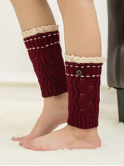 Lace Knitting Boots Short Leg Warmers