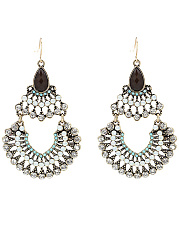 Exotic Statement Hollow Out Rhinestone Drop Earrings