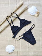 Spaghetti-Strap-Plain-Triangle-Bikini