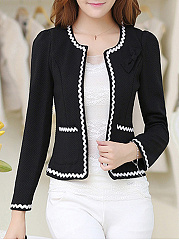Blazer Polyester Bowknot Decorative Lace