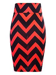 Zigzag-Striped-Pencil-Midi-Skirt