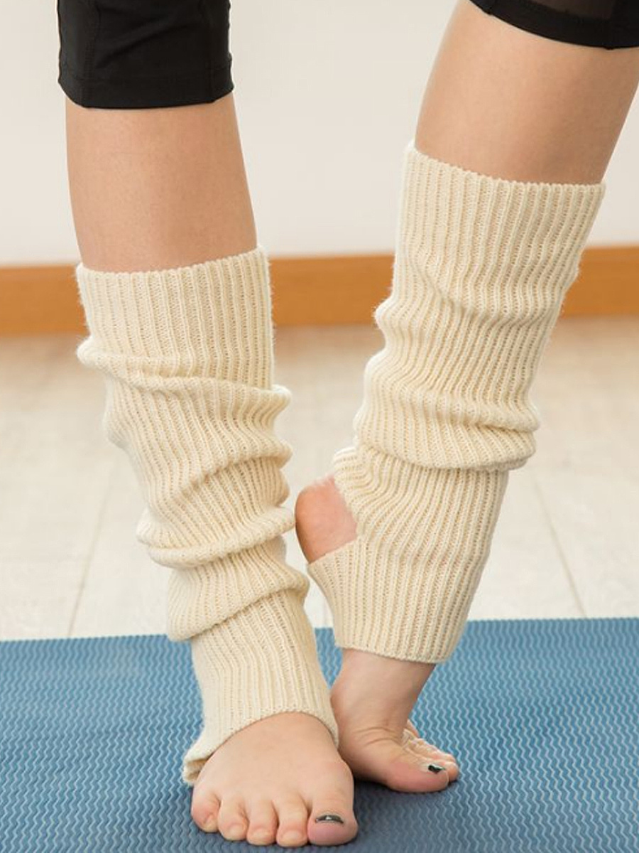 Knit Soft Yoga Sock Leg Warmers