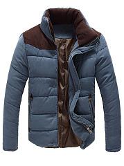 High-Neck-Color-Block-Men-Pocket-Padded-Coat