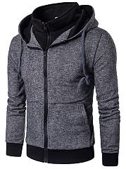 Hooded-Patch-Pocket-Men-Fake-Two-Piece-Coat
