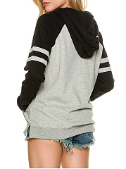 Autumn Spring  Polyester  Raglan Sleeve  Long Sleeve Hoodies