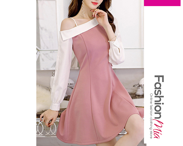 thickness:regular, brand_name:fashionmia, down_content:90%, style:elegant,fashion,office outfit, material:polyester, sleeve:long sleeve, pattern_type:plain, length:knee-length, how_to_wash:cold gentle machine wash, supplementary_matters:all dimensions are measured manually with a deviation of 2 to 4cm., occasion:date,office, season:autumn,winter, dress_silhouette:flared, package_included:dress*1, lengthsleeve lengthbustwaisthip