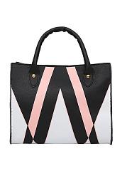 Simple-Triangle-Print-PU-Hand-Bag