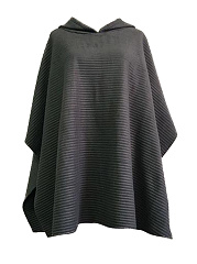 Hooded-Plain-Sleeveless-Cape