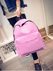 Leisure Nylon Backpack Letters School Casual Bag