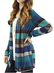 Patchwork  Stripes Knit Cardigans