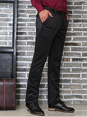 Mens-Office-Plain-Straight-Pants