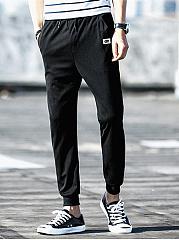 Mens-Casual-Drawstring-Elastic-Waist-Jogger-Pants
