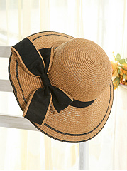 Bowknot-Straw-Beach-Hat