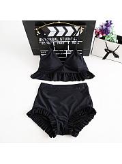 Sexy-Black-High-Waist-Bikini-Set