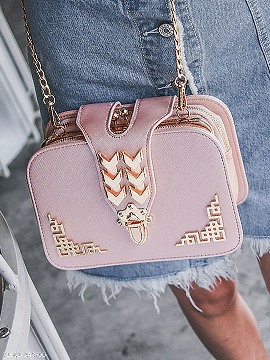 PU Chain Shoulder Bags