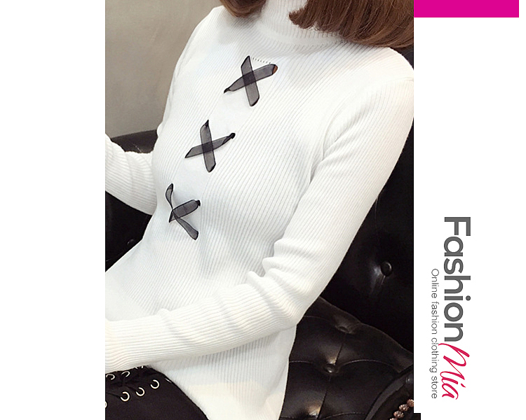 gender:women, hooded:no, thickness:regular, brand_name:fashionmia, style:elegant,fashion, material:knit, collar&neckline:round neck, sleeve:long sleeve, embellishment:drawstring, pattern_type:plain, how_to_wash:cold  hand wash, occasion:basic,daily,date, season:autumn,winter, package_included:top*1, lengthshoulderbust