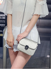 Pu Weave Chain Crossbody Bag