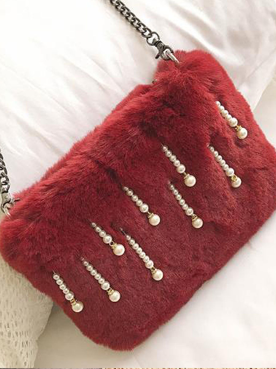 New Faux Fur Crossbody Bag