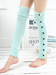 Korean Style Knitting Boots Long Stocking Long Leg Protective Socks Hosiey