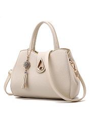 Snow Tassel Drop Shape Chic Shoulder Bag