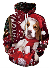 Kangaroo-Pocket-Christmas-Printed-Men-Hoodie