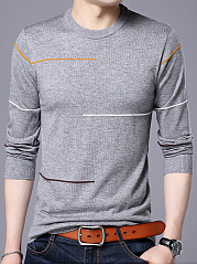 Crew Neck Printed Men'S Sweater