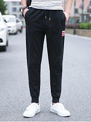 Mens-Casual-Elastic-Waist-Pocket-Jogger-Pants
