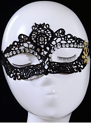 Rhinestone Lace Party Mask