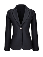 Single-Button-Notch-Lapel-Plain-Plus-Size-Puff-Sleeve-Plus-Size-Blazer