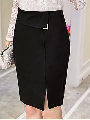 Plain-Slit-Pencil-Midi-Skirt