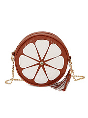 Cartoon Daisy Tassel Round Crossbody Bag