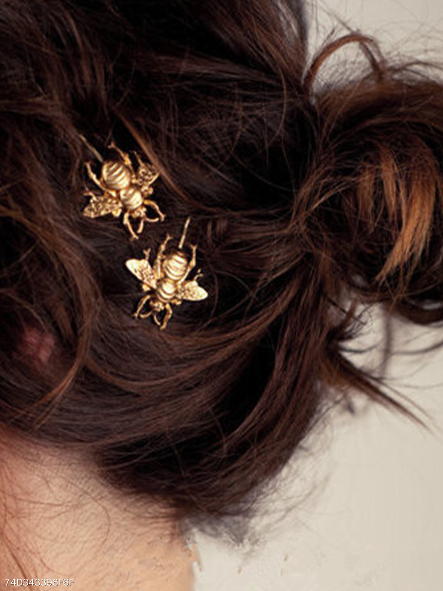 Alloy Bee Metal Hair Clip