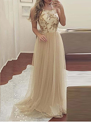 Spaghetti Strap  Glitter  Plain Maxi Dress