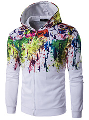 Colorful Graffiti Men Hoodie