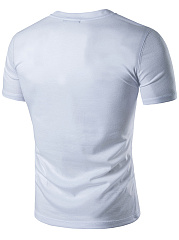 Henley Collar  Short Sleeve Short Sleeves T-Shirts