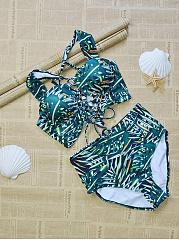 Spaghetti-Strap-Printed-Bikini