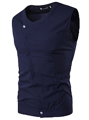 V-Neck Plain Men Vest