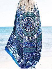 Chiffon Scarf Flowers Scarves Quality Goods Printed Chiffon Wrap Sarong Beach Swimwear Cover Up Bikini Scarf Shawl