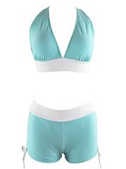 Color-Block-Drawstring-Spaghetti-Strap-Swimwear
