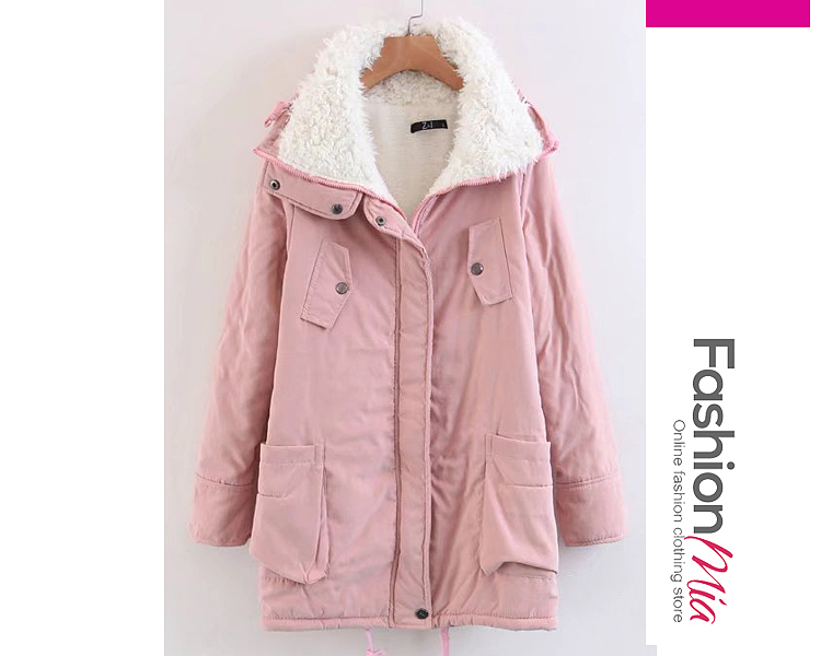 gender:women, hooded:yes, thickness:thick, brand_name:fashionmia, outerwear_type:coat, style:casual,fashion,japan & korear, material:polyester, collar&neckline:hooded, sleeve:long sleeve, embellishment:drawstring,zips, more_details:decorative button, pattern_type:plain, supplementary_matters:all dimensions are measured manually with a deviation of 2 to 4cm., occasion:basic,daily,date, season:autumn,winter, package_included:top*1, lengthshouldersleeve lengthbust